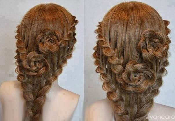 مدل مو به شکل گل رز